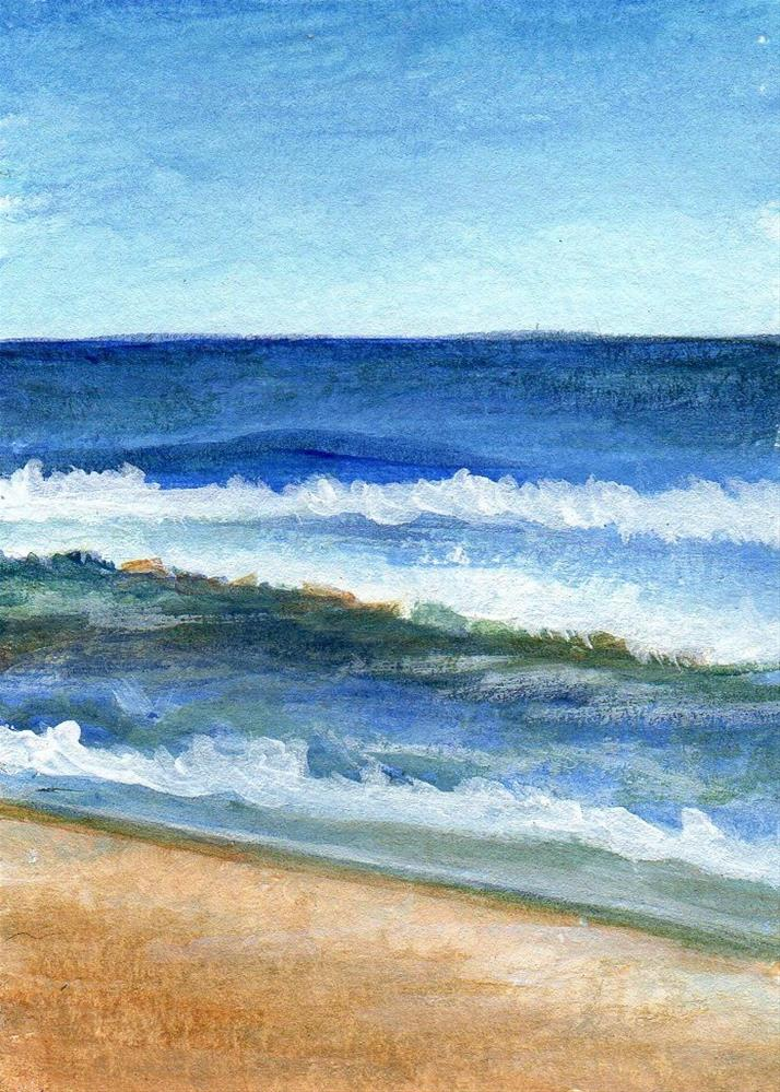 """First Wave"" original fine art by Debbie Shirley"