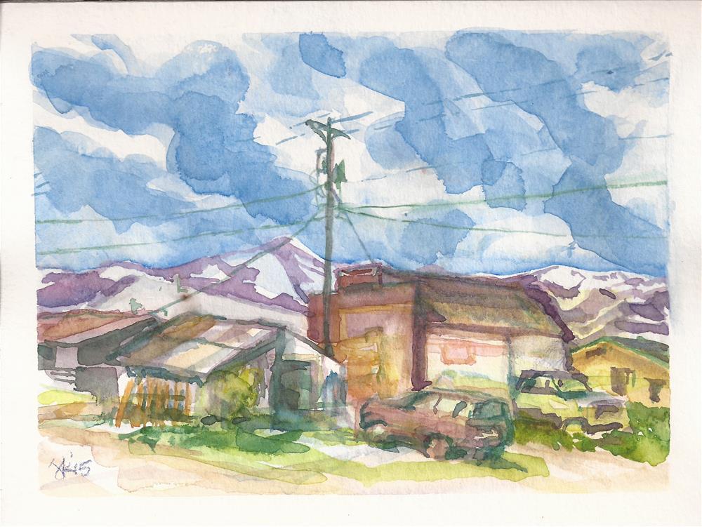"""""""Downtown, Westcliffe, CO"""" original fine art by Jean Krueger"""