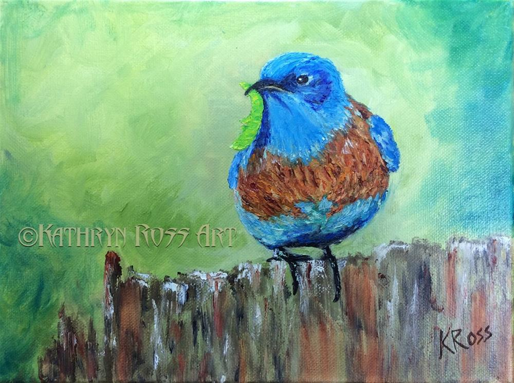 """""""Early bird"""" original fine art by Kathryn Ross"""
