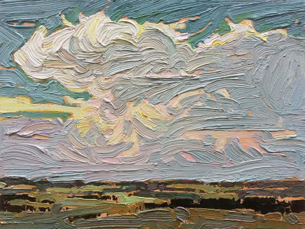 """Big Sky:  6x8  oil on panel"" original fine art by Ken Faulks"