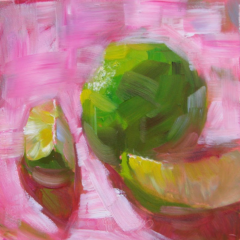 """Hot Pink 143"" original fine art by Laura  Buxo"