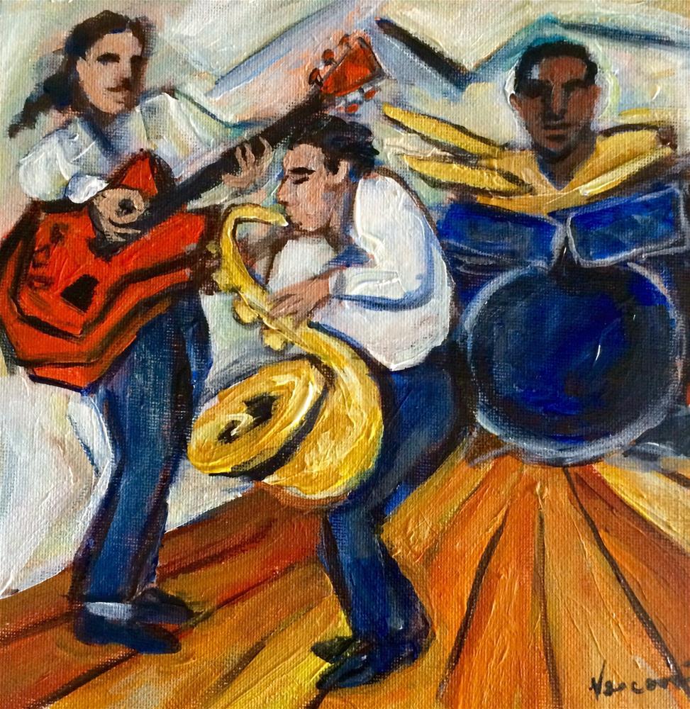"""""""Sax Solo"""" original fine art by Valerie Vescovi"""