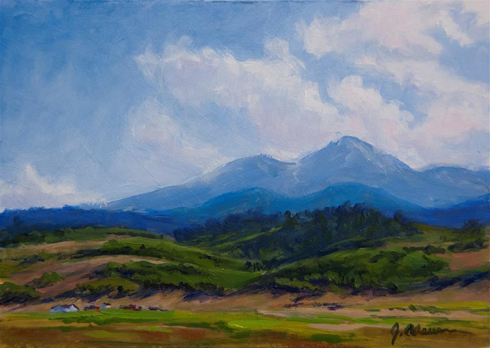 """Longs Peak from Wilson Ave."" original fine art by Gary Alsum"