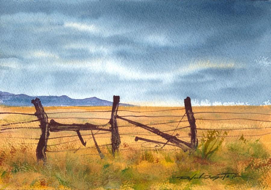 """Fence-scape"" original fine art by Rafael DeSoto Jr."