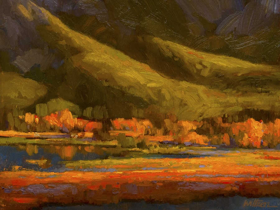 """Evening - Vermilion Lakes"" original fine art by Liz Wiltzen"