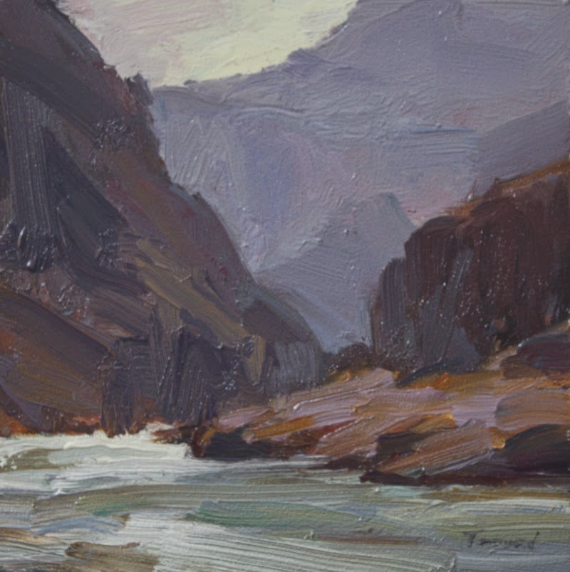 """Grand Canyon Rapids"" original fine art by Kathryn Townsend"