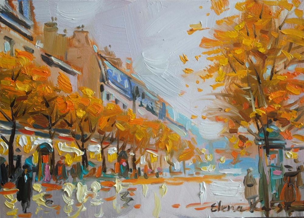 """October Day"" original fine art by Elena Katsyura"