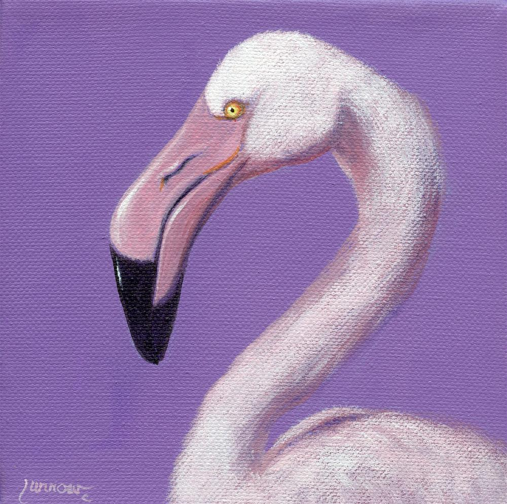 """Greater Flamingo"" original fine art by Sue Furrow"