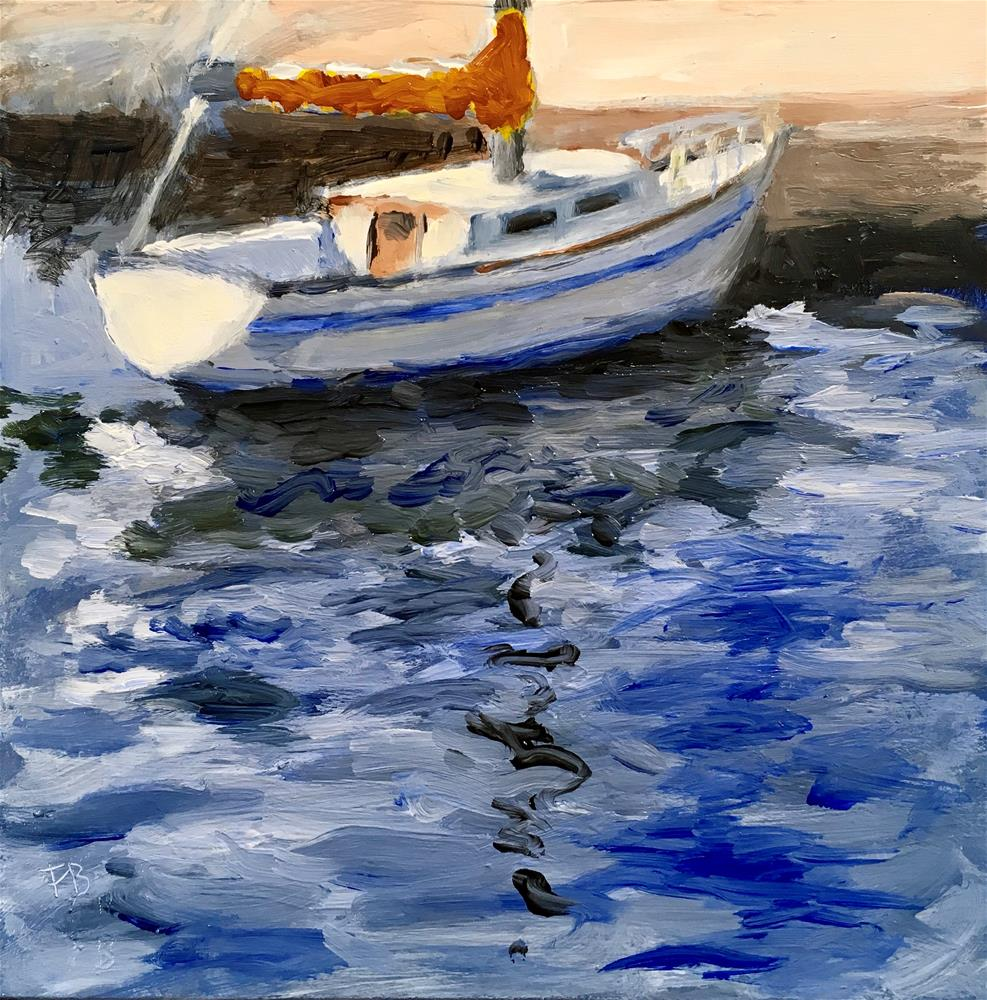 """""""118 Sailboat Of Dreams"""" original fine art by Fred Bell"""