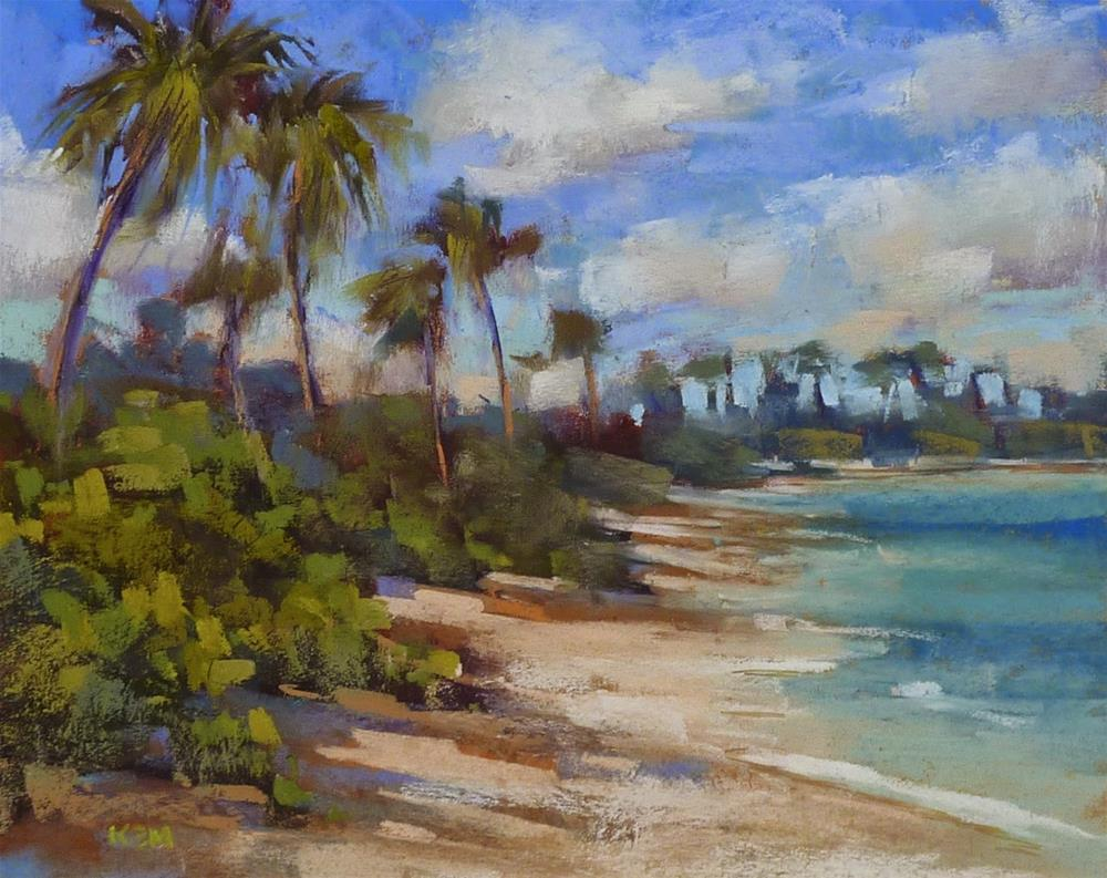 """Tips for Painting a Beach"" original fine art by Karen Margulis"