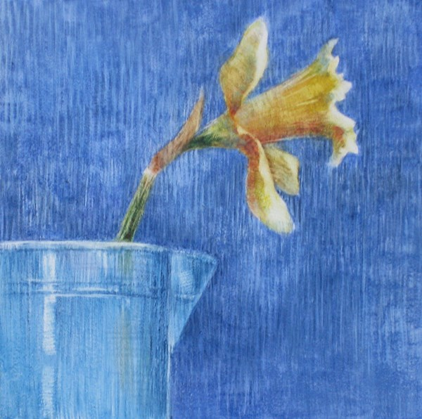 """""""Yellow and Blue"""" original fine art by Ginger Pena"""