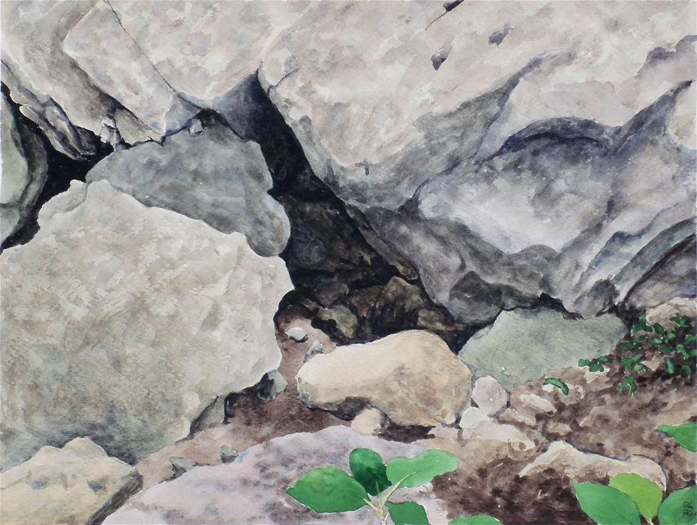 """Clifton Gorge Rocks"" original fine art by Greg Arens"