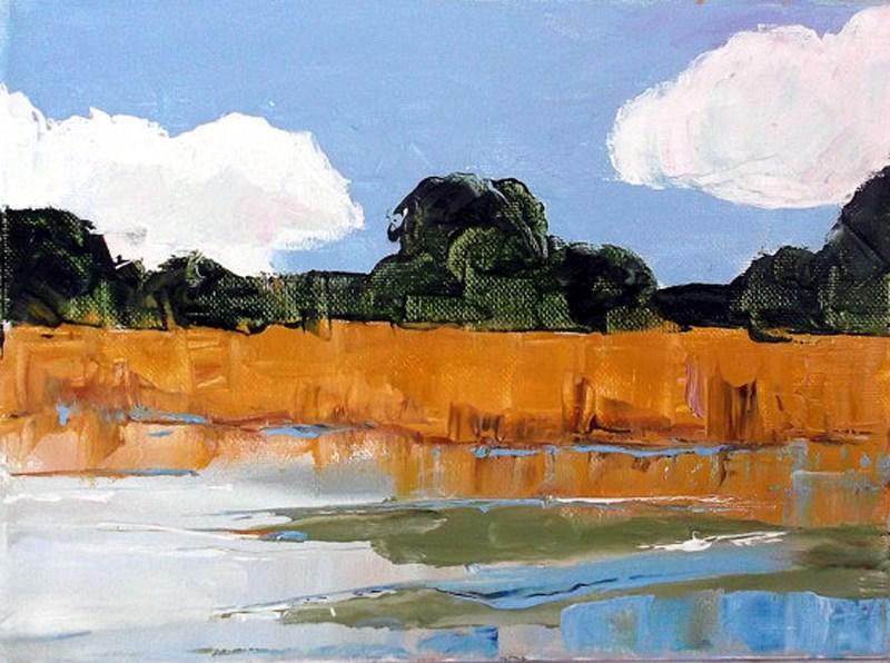 """California Marsh"" original fine art by lynne french"