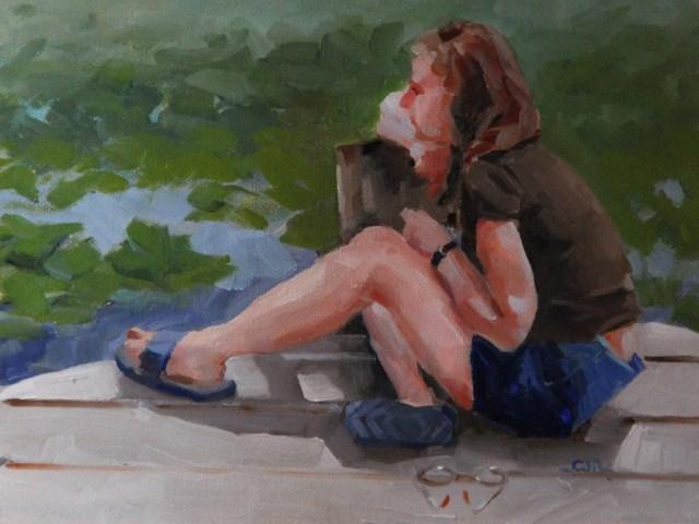 """A Tennant Lake Relax"" original fine art by C J Roughton"