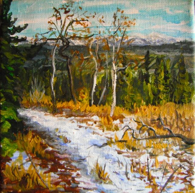 """Hiking along Blind Creek"" original fine art by Jackie Irvine"