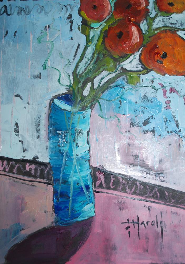 """""""Ranunculus"""" original fine art by Deborah Harold"""