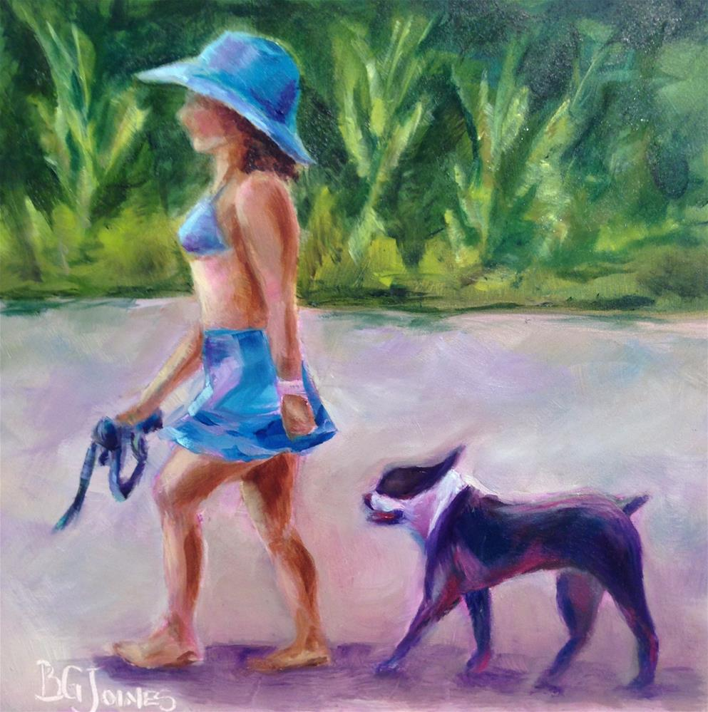 """Puppy Love"" original fine art by Barbara Gillis Joines"