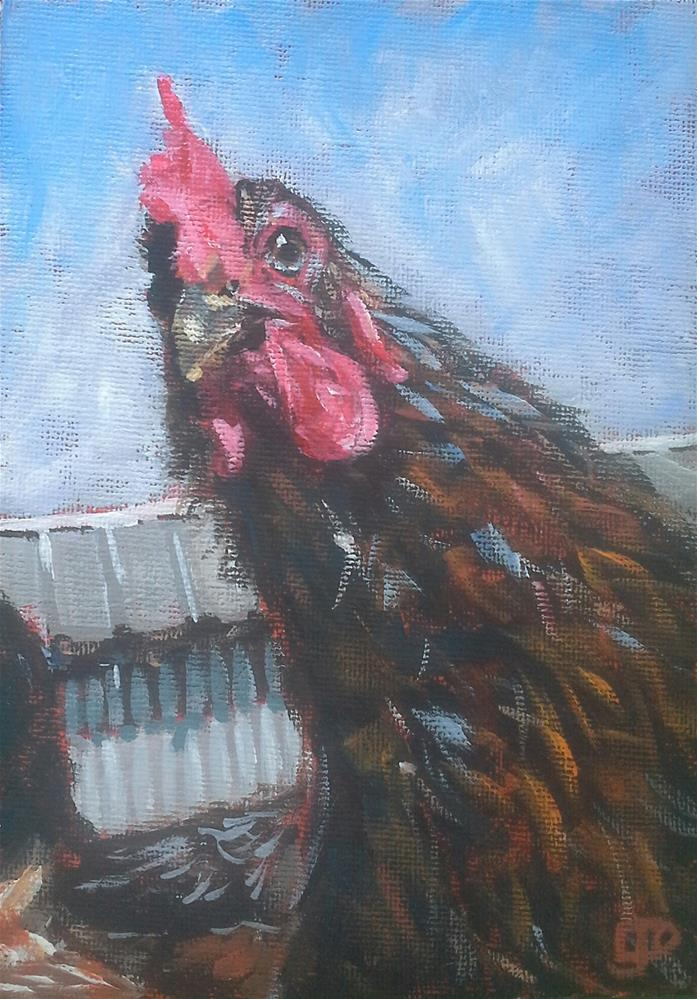 """Yes, It's Me!"" original fine art by Leanne Owen"