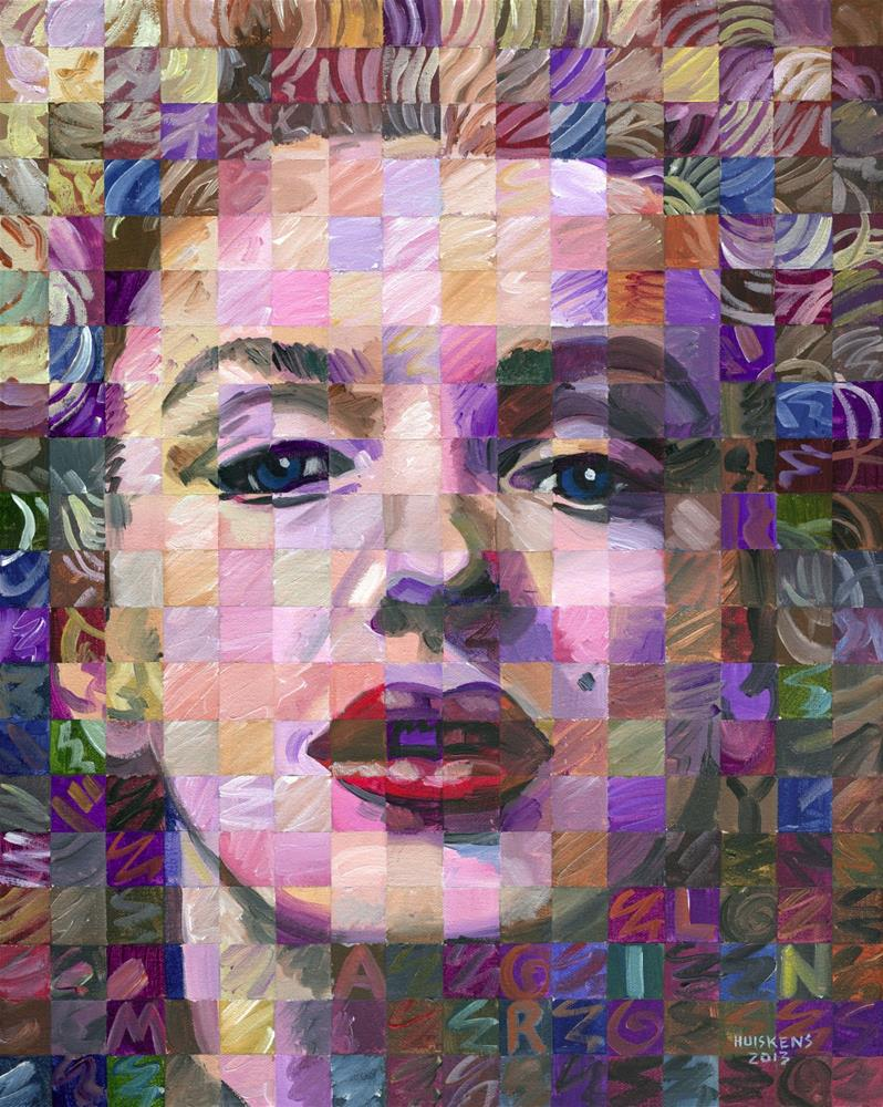 """Marilyn Monroe #5"" original fine art by Randal Huiskens"