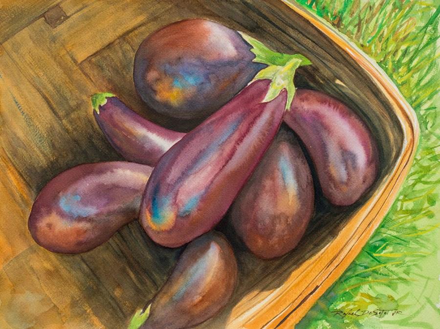 """Brinjals"" original fine art by Rafael DeSoto Jr."