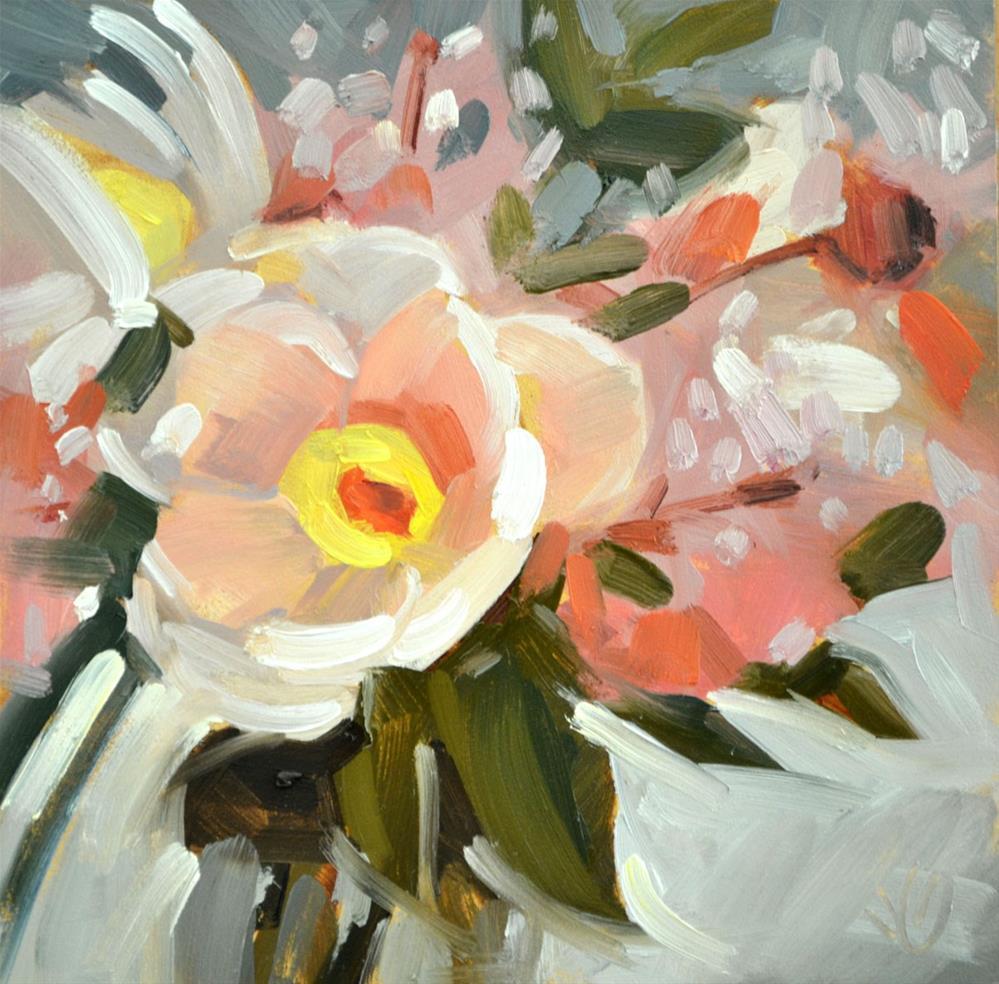 """Tina's Flowers Study I"" original fine art by Jessica Green"