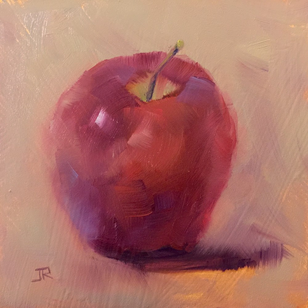 """Apple Of My Eye"" original fine art by June Rollins"