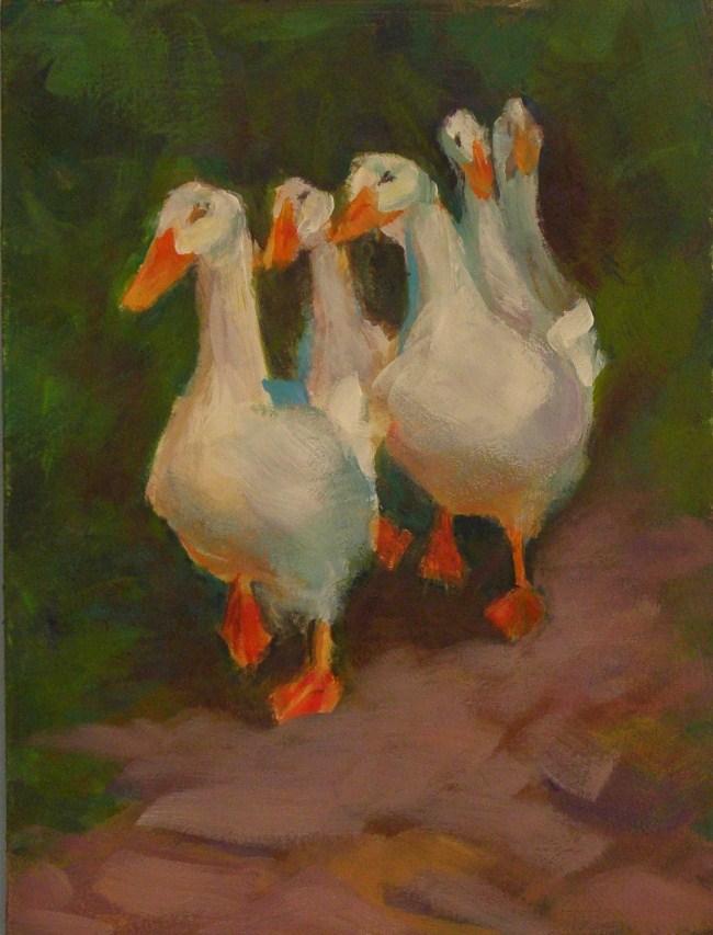 """""""QUACKERS"""" original fine art by Brian Cameron"""