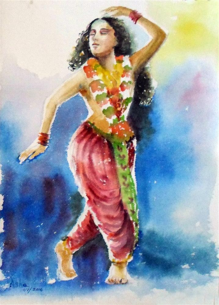 """Lost in dance"" original fine art by Asha Shenoy S"