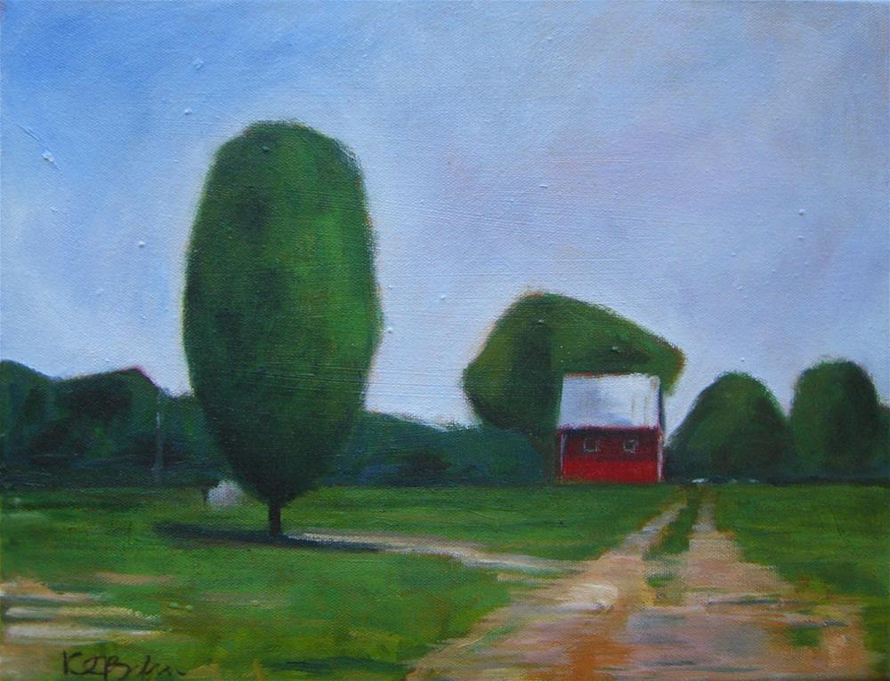 """Vienna barn"" original fine art by Kathy Broyles"