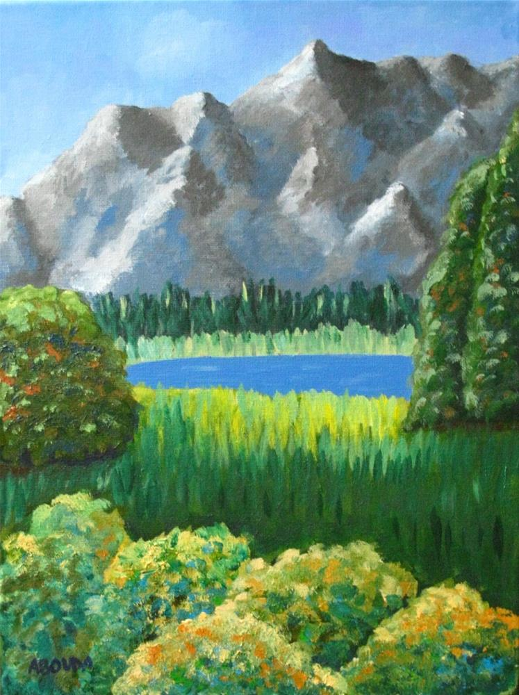 """Mountain Dream"" original fine art by Sandy Abouda"