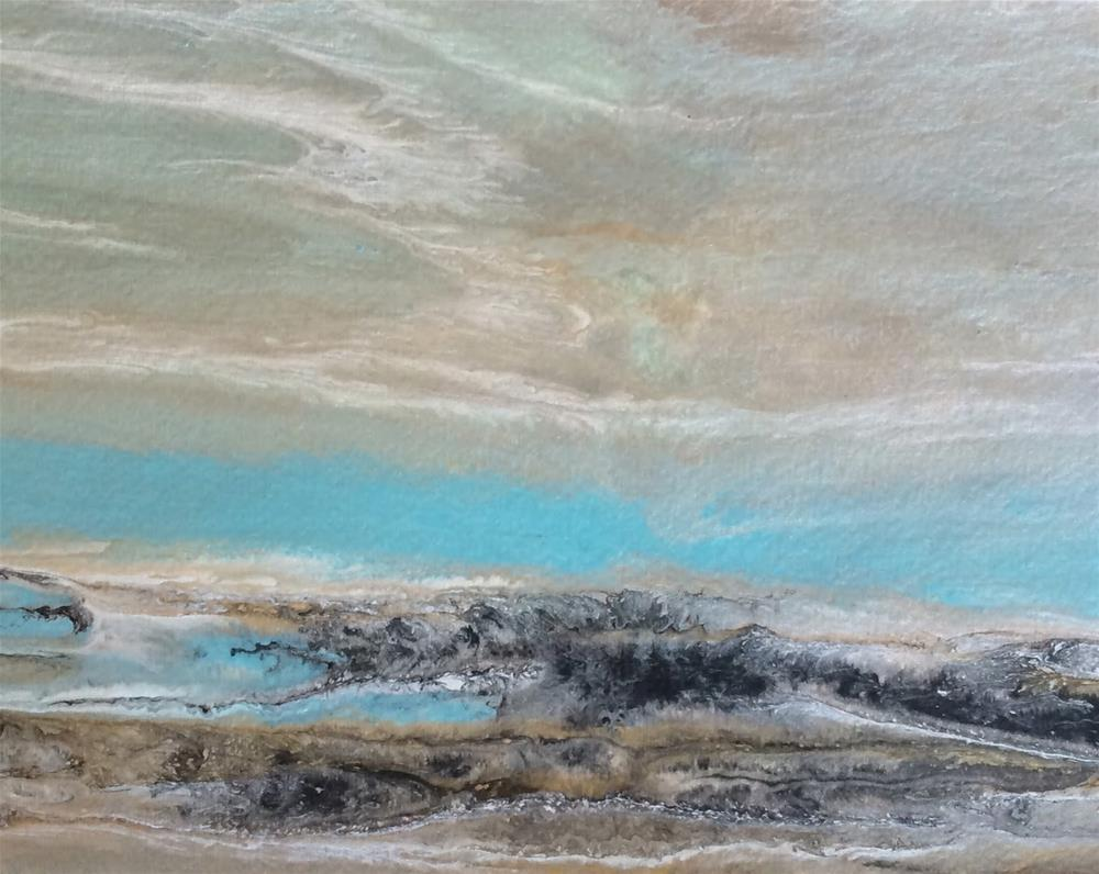 """Abstract Seascape,Beach, Ocean Coastal Living Decor Gulf Study #3 by Colorado Contemporary Artist"" original fine art by Kimberly Conrad"