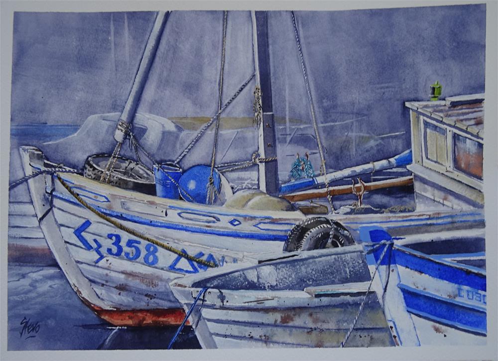 """My Favourite Boats"" original fine art by Martin Stephenson"