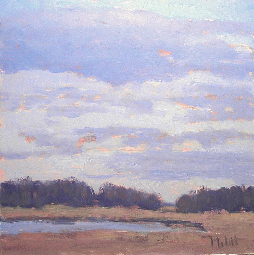 """Marshland Sunset Impressionist Landscape"" original fine art by Heidi Malott"