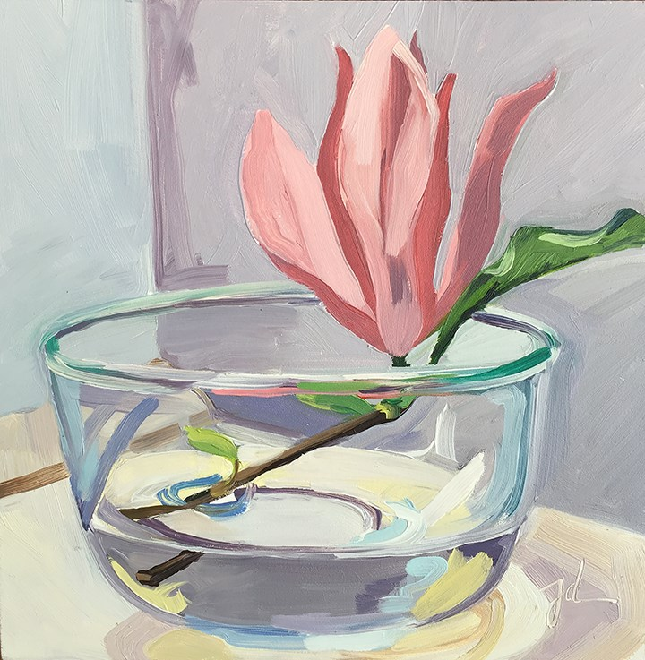 """Magnolia in Bowl"" original fine art by Jessie Dodington"