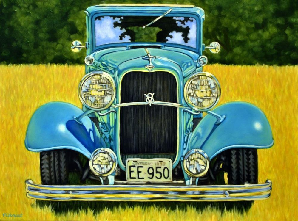 """""""Antique Ford"""" original fine art by Margaret Horvat"""