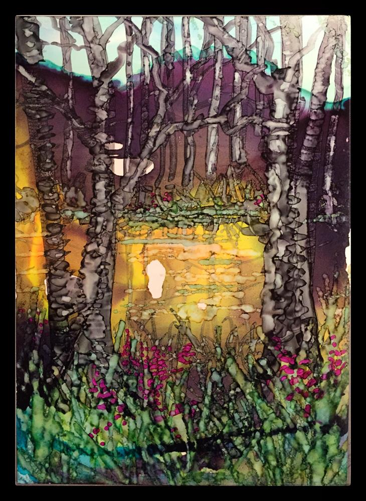 """Marshmallow Bog"" original fine art by Kelly Alge"