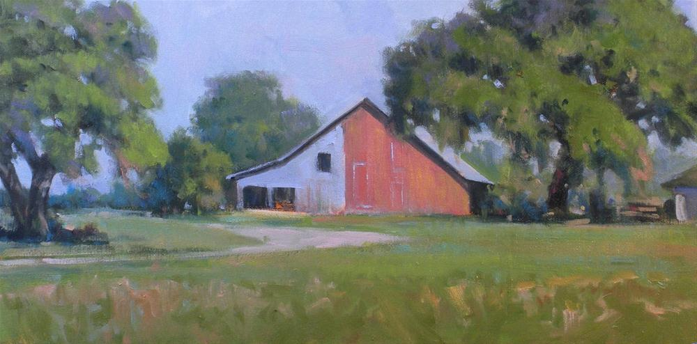 """Red Barn"" original fine art by David Forks"