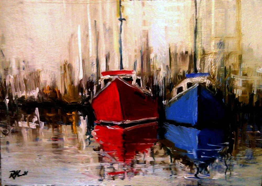 """Two Boats"" original fine art by Bob Kimball"
