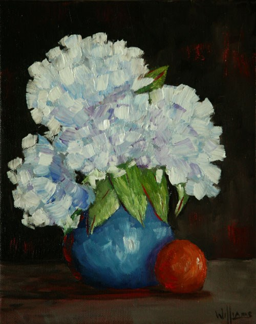 """Hydrangeas"" original fine art by Sunny Williams"
