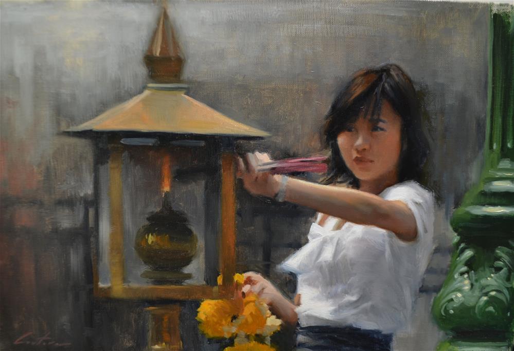 """Erawan Marigolds"" original fine art by Phil Couture"