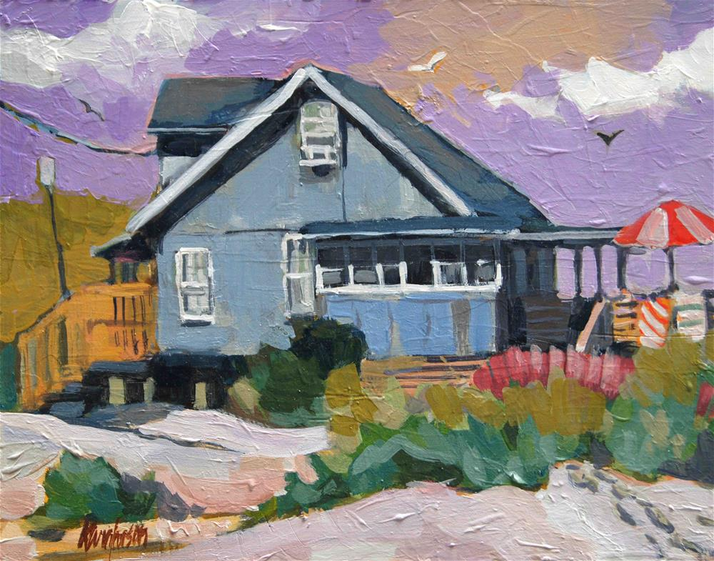 """Beach Cottage 22"" original fine art by Kevin Larson"