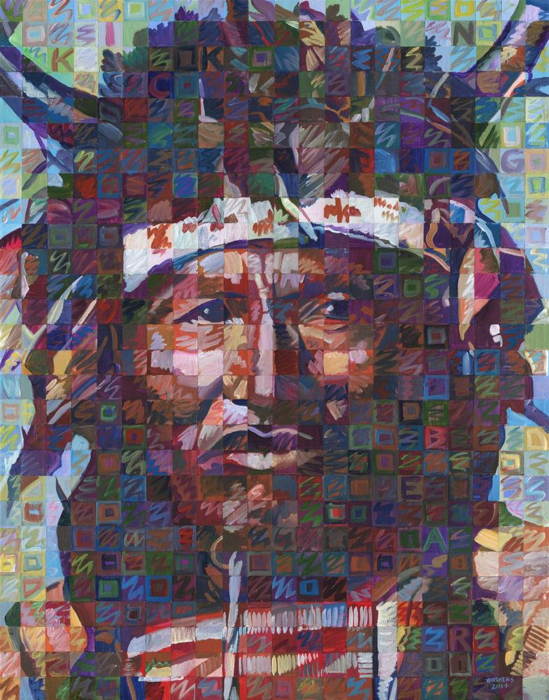 """Kicking Bear"" original fine art by Randal Huiskens"