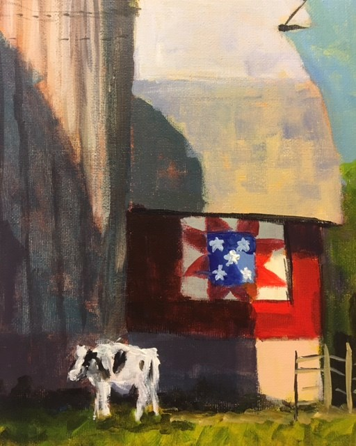 """Amish Quilt"" original fine art by Susan Elizabeth Jones"