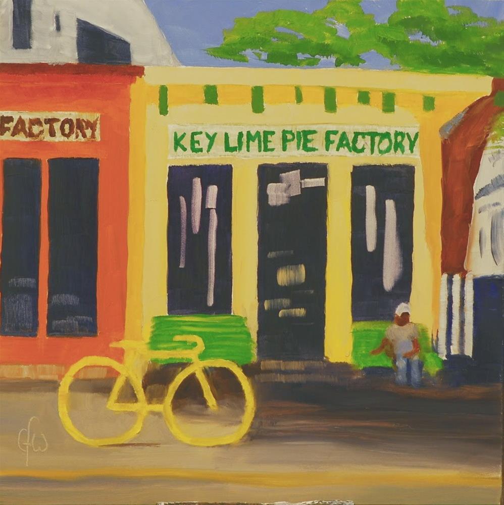 """Key Lime Pie Factory"" original fine art by Gary Westlake"
