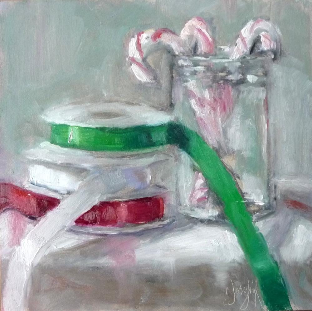 """Happy Holidays"" original fine art by Carol Josefiak"