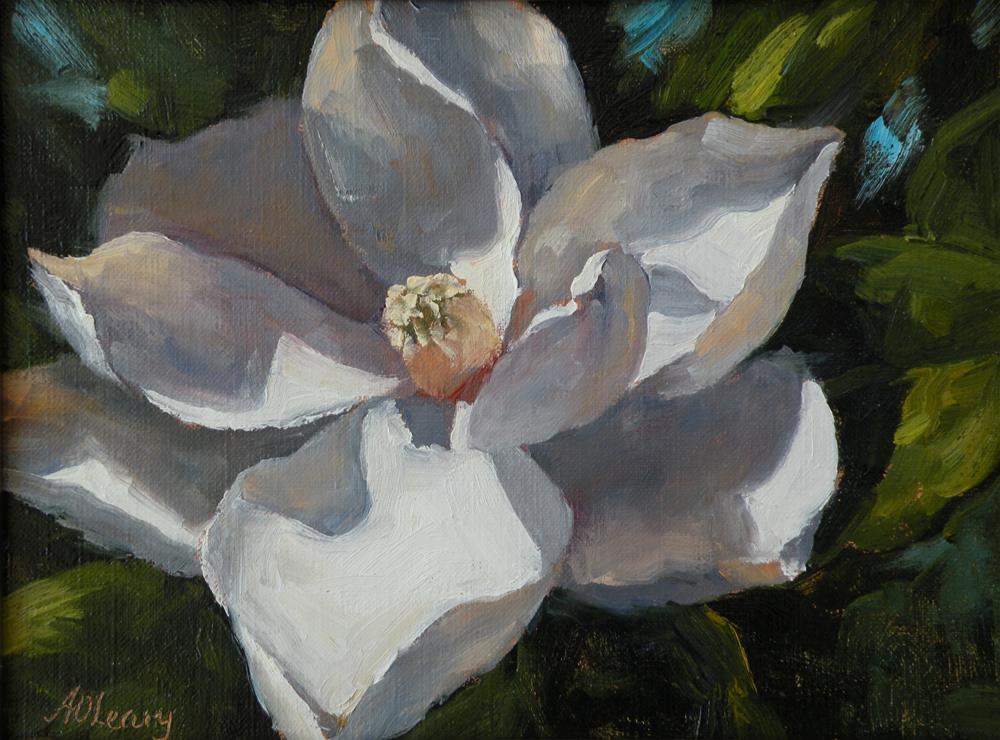 """White Beauty"" original fine art by Alice O'Leary"