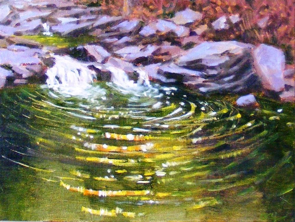 """Ripples of small creek"" original fine art by Celine K.  Yong"