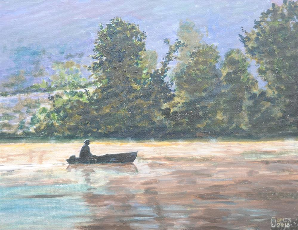 """Little Boat"" original fine art by Fred Jones"