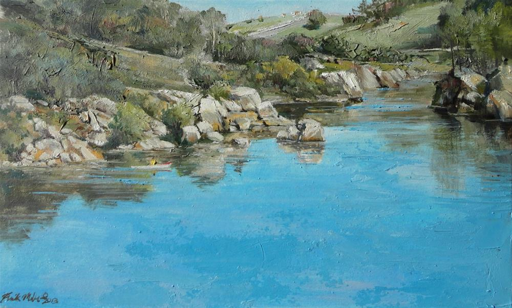 """Lake Natoma"" original fine art by Kirk Miller"