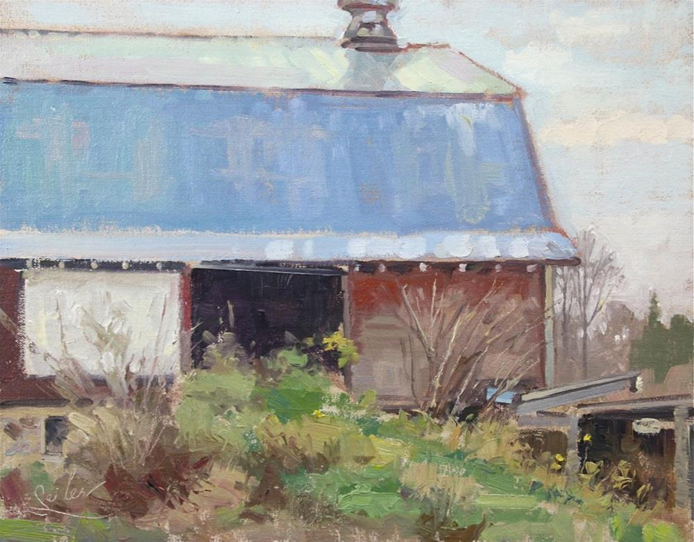 """Metal Roof Barn"" original fine art by Larry Seiler"